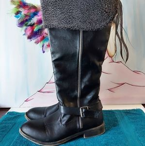 Faux Leather Boots Women's Size 10W